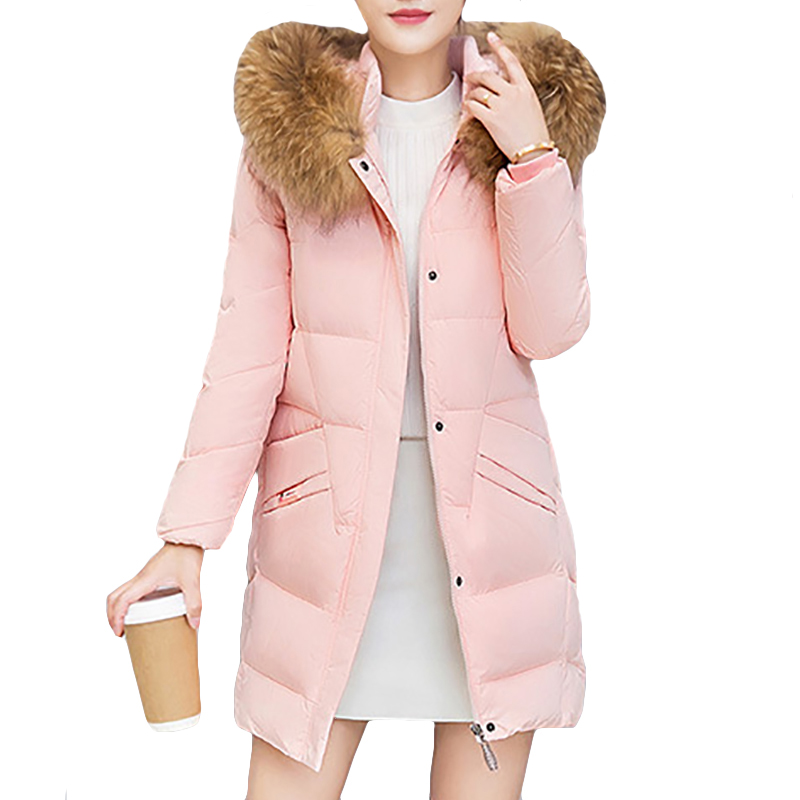 Womens Winter Jackets and Coats Big Fur Hooded Parka Warm Winter Coat Women Outerwear Long Down Jacket Manteau Femme Hiver 2017