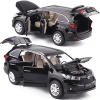 1 32 Alloy Diecast Sound And Light Model Boy Toy Cars Six Door Openable Pull Back