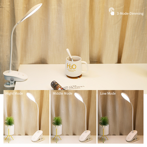 Image 4 - YAGE 7300K USB Table Lamp with Clip 1200mAh 18650 Rechargeable Led Desk Lamp Touch Lampe Flexo Bureau Study Night Light Table