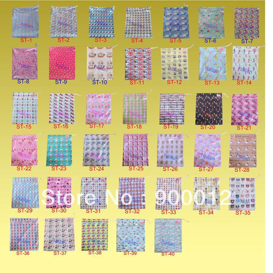 Windel Wetbags Freies Verschiffen -40 Farben Mit Marke 1 Tasche Nassen Taschen Windeln Mama Wetbags 100 Stück ST Serie Windeltaschen