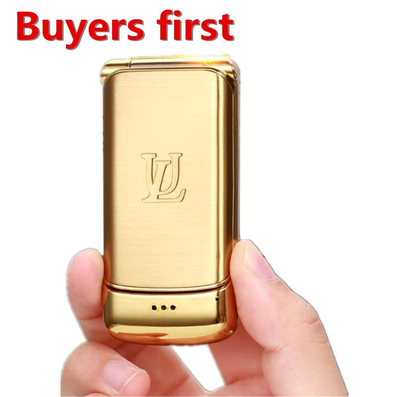 2018 new original Smalllest Flip cellPhone Ulcool V9 1.54 Bluetooth FM Radio Anti lost Super 750mAh Dual SIM MP3 MobilePhone
