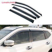Car Window Visor Door Rain Sun Shield Side Windows Cover Trim Auto Accessories For Nissan X-trail X Trail Rogue T32 2014-2017