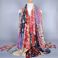 Japanese Ethnic Style Scarves and Shawls for Women Fashion Tassel Design Artistic Style Bandana and Pashmina for Ladies LS13
