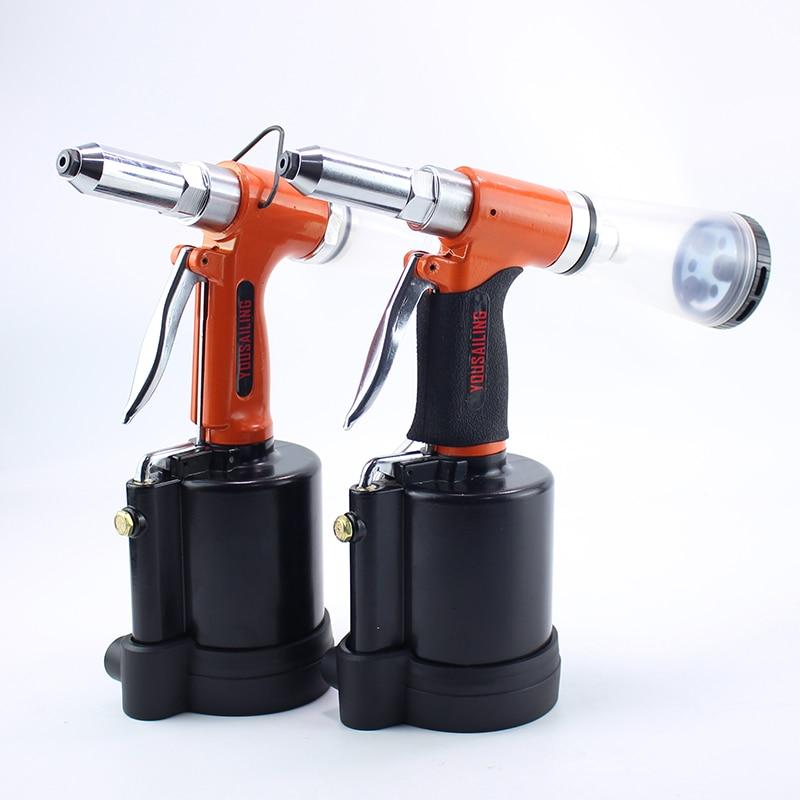 YOUSAILING Industrial 3.2-6.4MM Pneumatic Blind Riveter Gun Air Hydraulic Rivets Nail Gun Air Riveting Tools Rivets Tool