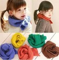 2013 new solid color plain fashion knitting boys and girls scarves winter accessories 12*100cm 5colors 1pc