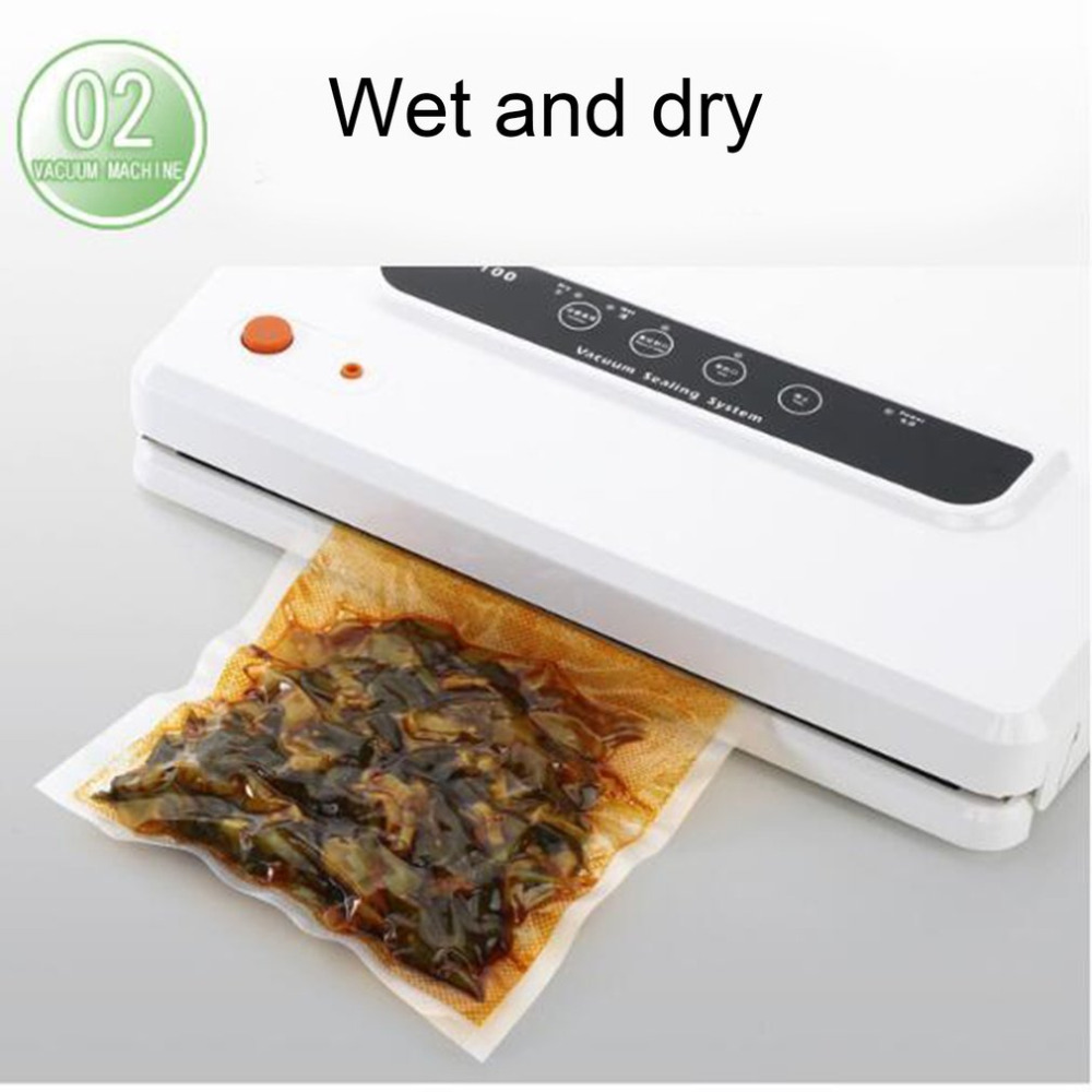 Wet Dry Dual Use Household Multi-function Food Vacuum Sealer Home Automatic Vacuum Sealing Packer Plastic Bag Packing Machine stylish 4 pcs water swelling dual use dry and wet beauty blender powder puffs