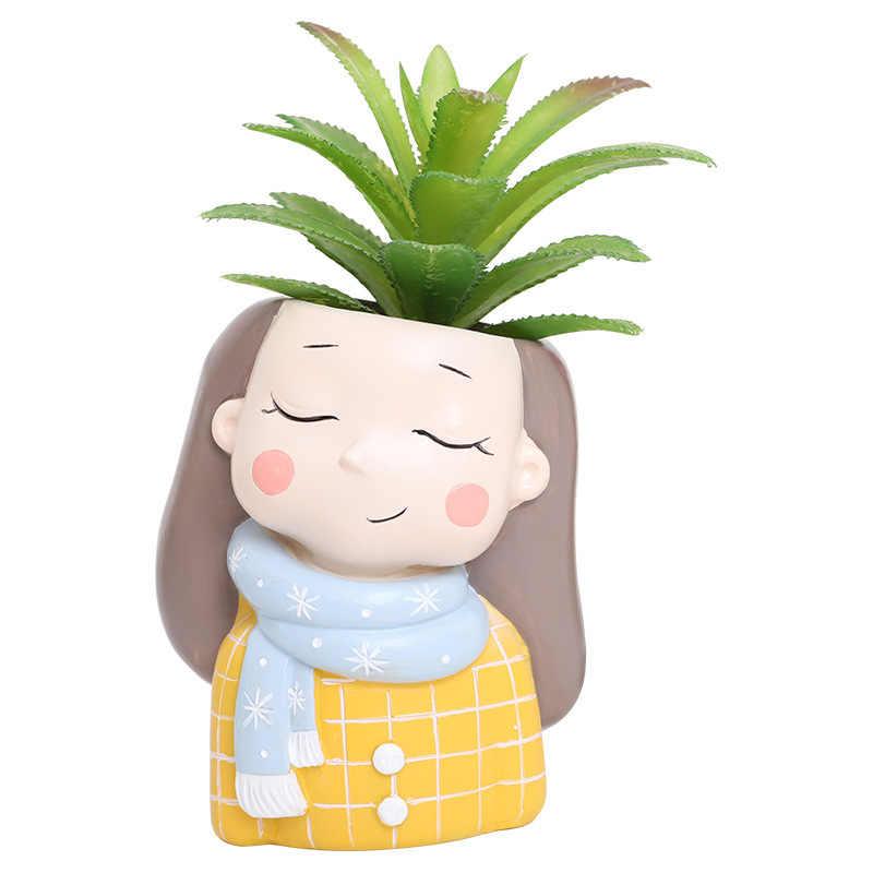 1 Buah Pot Tanaman 2019 Baru Kreatif Kecil Bunga Pot Planter Succulent Kaktus Bonsai Pot Bunga Hadiah Hari Valentine untuk dia