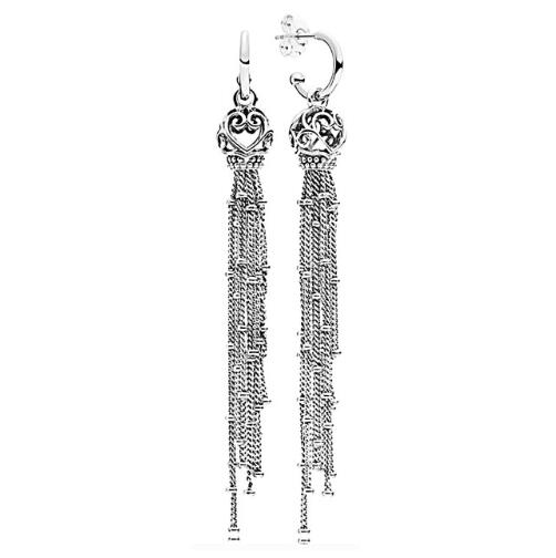 Original 925 Sterling Silver Studs Earring Enchanted Tassels Pandora Hanging Earrings For Women Wedding Gift Fine JewelryOriginal 925 Sterling Silver Studs Earring Enchanted Tassels Pandora Hanging Earrings For Women Wedding Gift Fine Jewelry