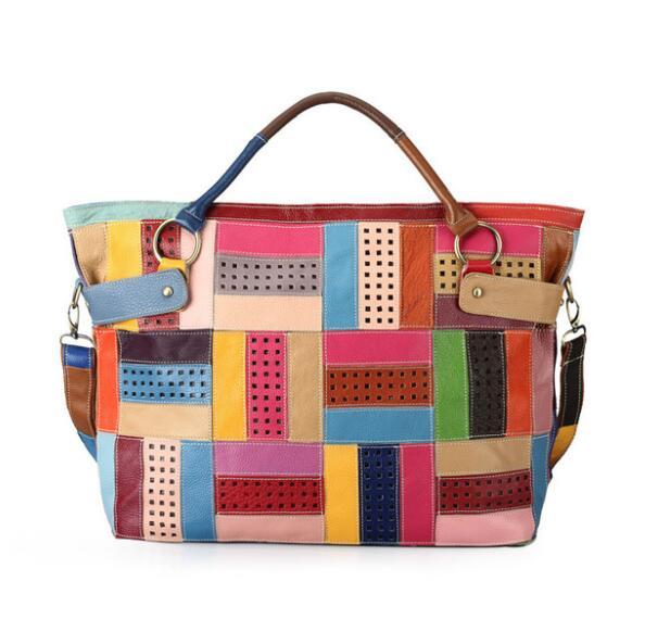 2019 Hot Sale100% Genuine Leather Big Bag Women Handbags Colorful Fashion Bag Shopping Totes2019 Hot Sale100% Genuine Leather Big Bag Women Handbags Colorful Fashion Bag Shopping Totes