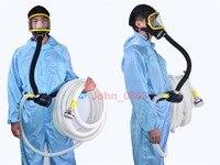 10 m de Comprimento Da Tubulação Elétrica de Ar Fornecido Alimentados Com Cara Cheia Máscara de Gás Respirador Portátil