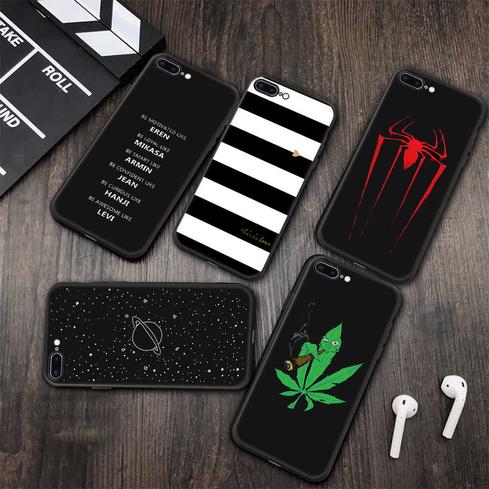 Soft TPU Silicone Printed Case Cover For iPhone 6 6s 7 8 Plus X XR XS MAX Slim Protective Phone Shell For iPhone 5 5s SE Cases