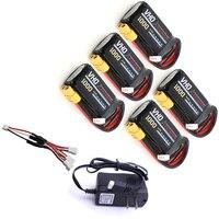 VHO 5pcs Lipo Battery 7 4V 1000mAh 30C 2S XT30 XT60 T Plug And UL Charger