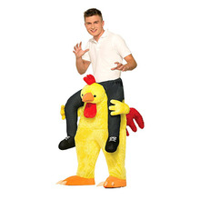 Toys Easter Ride On Costumes Fight-Pants Turkey Mascot Chicken Cosplay Carry-Back Christmas-Party