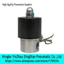 """2WB-08 1/"""" компактный Соленоидный клапан из нержавеющей стали для воздуха, воды, нефти, газа по хорошей цене"""