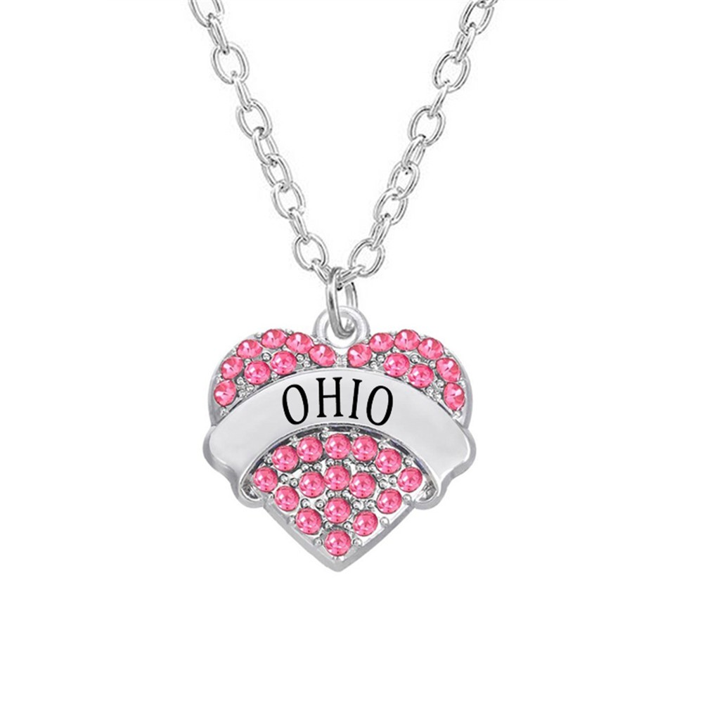 The Ohio State Silver Rhinestone Chain Shirt