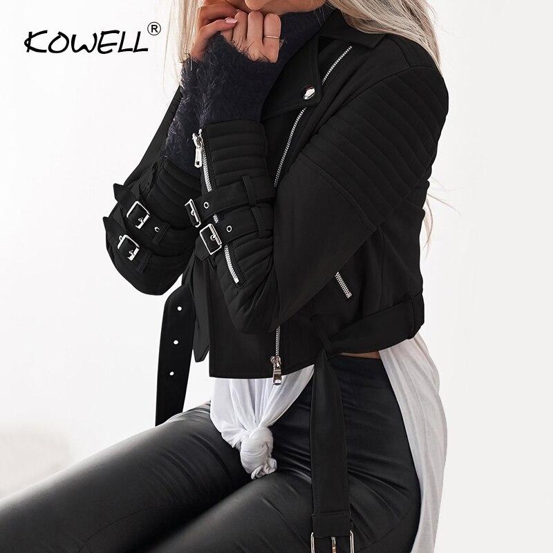 Veste En Glissière Fermetures Spéciale gris Top De Femmes Patchwork Pu Coat Offre Manches Manteau À Base Cuir Hiver Noir Femelle Longues Mode Spandex YqExRqS8