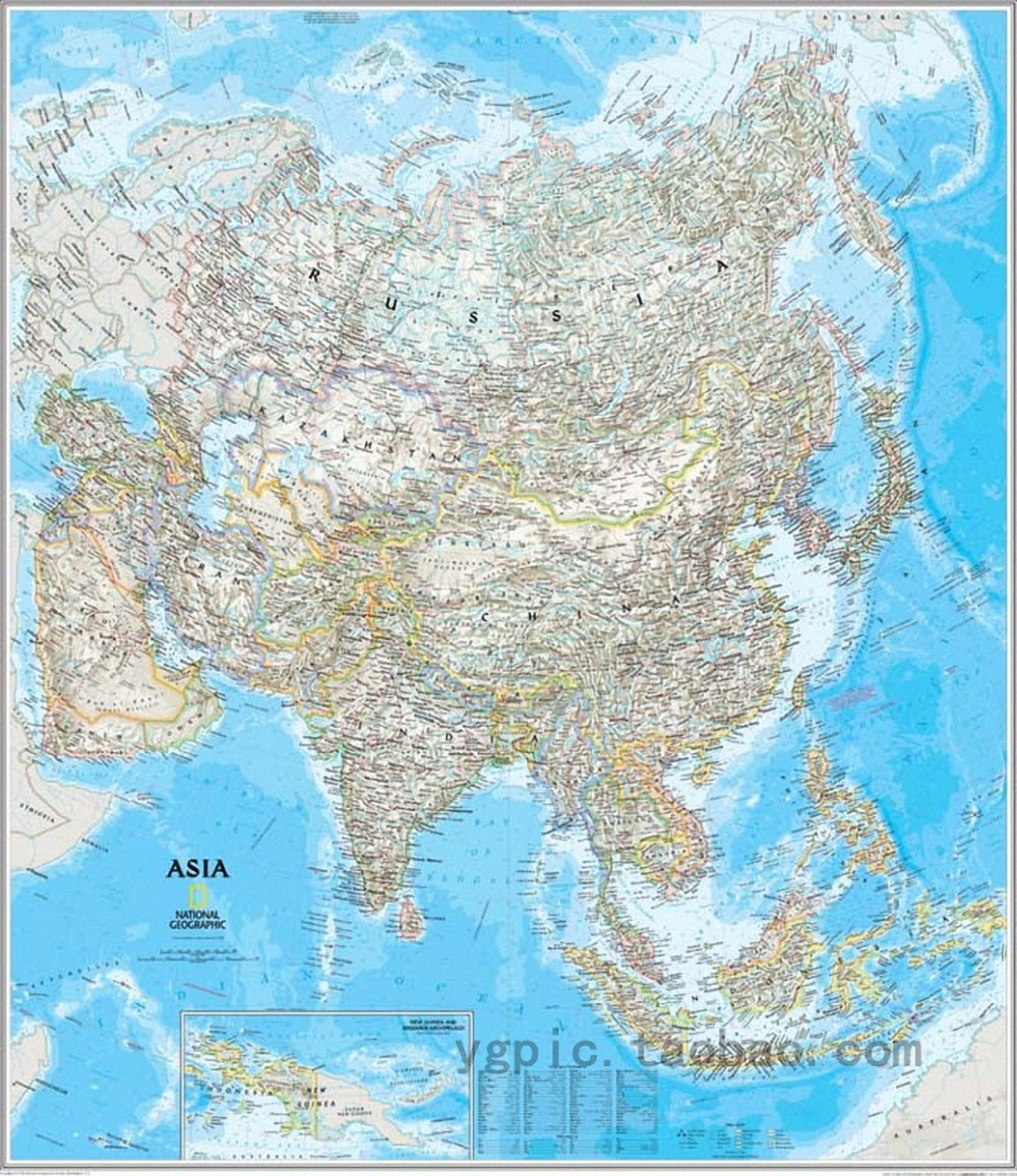 Asian English Map Sheepskin rolls pure cotton Microjet oil painting font b Science b font teaching