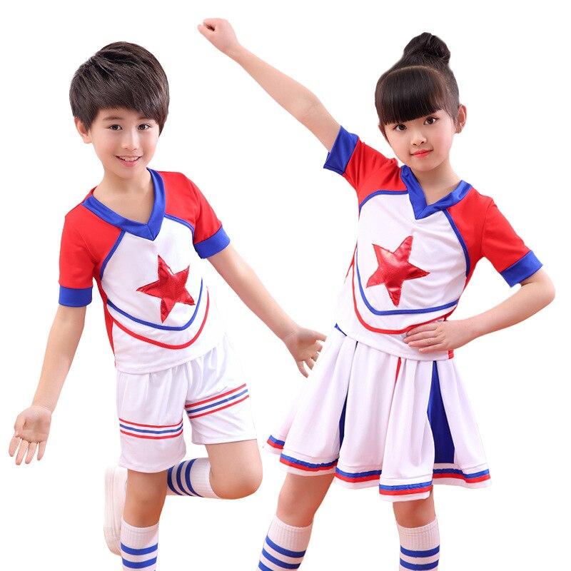 Children's Cheerleading Uniforms Sports Aerobics Lala Team Group Costumes Children Clothing Performance Clothing Dress Kids Girl