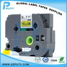 Производитель прямых продаж совместимость TZe-651 черный на 24 мм этикетки для Ptouch принтер с отличным совместимость