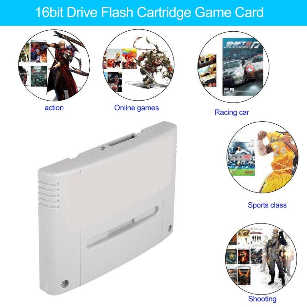 Onleny 16 peu Super Jamais Flash Jeu Lecteur Flash Cartouche Jeu Vidéo Console Jeu Flash Carte Plug & Play pour SNES Jeu Carte - 3