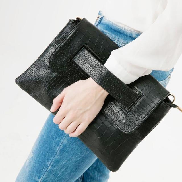 ANAWISHARE Women Leather Handbags Day Clutches Alligator Crocodile Crossbody Bag Messenger Bag Ladies Envelope Evening Party Bag