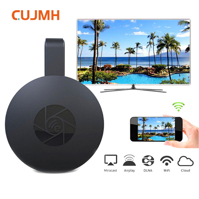 CUJMH TV Stick Android Wireless WiFi Display TV Receiver 1080P HD Airplay Media Streamer Adapter Media For Google Chromecast