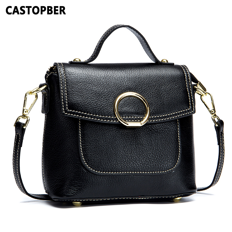2018 New Arrival Women Saddle Bag Fashion Cow Genuine Leather Crossbody Handbag Messenger Tote Bags High Quality Famous Brand