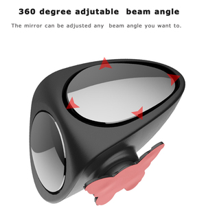 Image 4 - 1 Piece Car Convex Mirror Rotatable Adjustable Blind Spot Mirror Wide Angle Mirror front wheel Car Rear View mirror 2 Colors