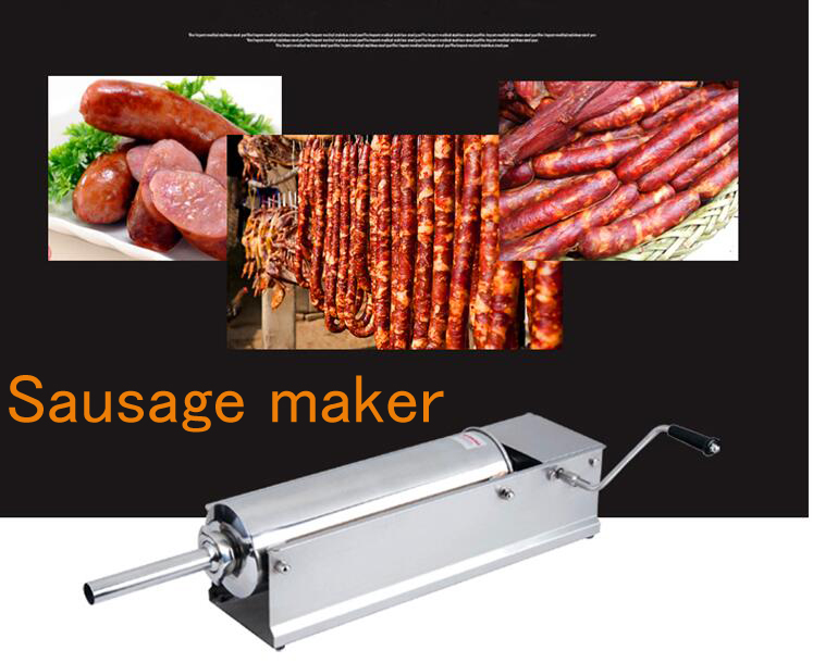 3L Manual sausage stuffer Sausage maker Stainless steel sausage Filler machine economic s steel manual s series sausage filler for hotel butcher home use and hunters