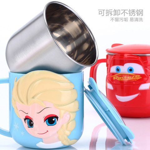 Baby Training Cup Stainless Steel Mugs For Kids Feeding Cup Infant Drinking Cup Water Bottle With Lid Kids Cup Copo De Bebes Islamabad