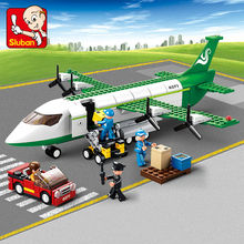 Sluban City Airport Airplane Building Blocks Toy Set Aircraft Model  Bricks Toy  City Planes Compatible with
