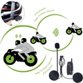 BT Auricular Helemt Motocicleta Bluetooth Intercomunicador Del Casco, 500 M Bluetooth de La Motocicleta Interphone Auriculares envío! (Paquete de 2)