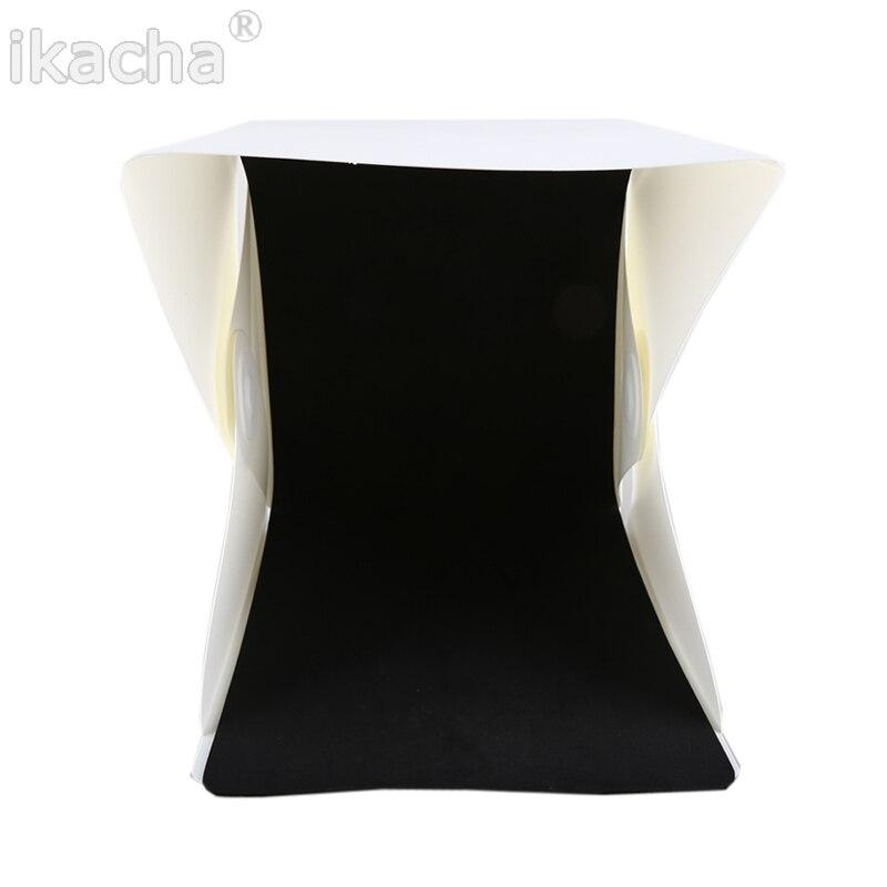 Mini caja plegable difusa de estudio flexible con luz LED, fondo - Cámara y foto - foto 5