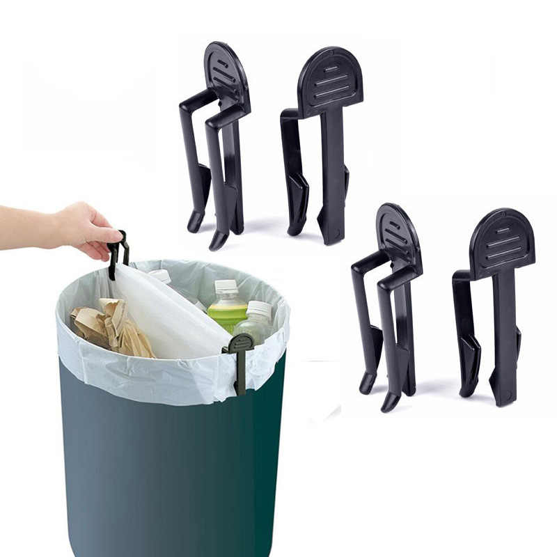 4Pcs/lot Practical Trash Can Clips Plastic Fixed Garbage Bag Clip Fixed Waste Bin Bag Holder Rubbish Clamp