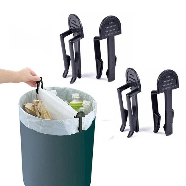 4 sztuk/partia praktyczne kosz na śmieci klipy plastikowe stałe śmieci klips do torebek naprawiono uchwyt worka worka śmieci zacisk