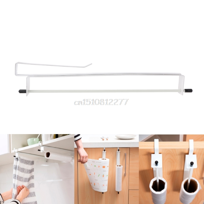 Kitchen Paper Storage Rack Under Cupboard Tissue Hanger Towel Roll Holder Sheilf#H028# Drop shipping anho stainless steel paper holder kitchen hanger tissue roll towel rack toilet bathroom accessories hanging storage organizer