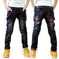 Детская одежда ребенок мужского пола джинсы брюки весна зима осень 8 ребенок джинсы зима большой мальчик брюки случайные брюки для 7-15 Y