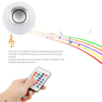 Dropshipping E27 Wireless Bluetooth LED Bulb Light 3W Sing Music Bulb Stereo Speaker With 24 Keys