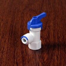 """1/"""" внутренняя резьба-1/4"""" диаметр трубы фитинг для полиэтиленовых труб изгиба охлаждающей жидкости Давление насадка Barrel ball аквариумный клапан обратного осмоса воды при помощи обратного осмоса"""