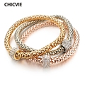 CHICVIE Friendship Famous Brand Bracelets For Women luxury Rose Gold Plated Bracelet Femme Turkish Jewelry new Year Gifts 2017
