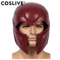 Coslive X Для мужчин Апокалипсис Магнето Эрик Lehnsherr Глава шлем маска для взрослых Косплэй реквизит Красная резина шлемы маски для хеллоуина Веч