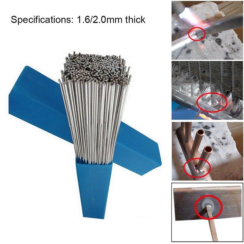 Zielsetzung 20 Stücke 1,6/2mm keine Flux Multi-tools Verbraucher Zuerst 500mm Niedrigen Temperatur Aluminium Schweißen Draht Schweißen Elektrode Flux Core Aluminium Elektrode