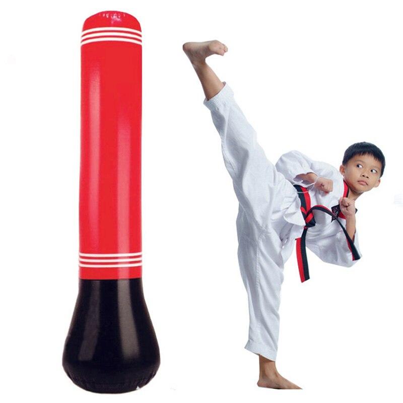 Inflatable Boxing Punching Bag Kick Training Tumbler MMA Sandbags for Kids Adult