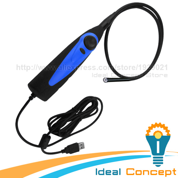 USB Inspection Camera 7mm Lens Diameter Borescope Pipe Tube Car Endoscope 830mm free shipping usb pipe inspection camera borescope endoscope tube snake waterproof with 7mm diameter 6led te e2a