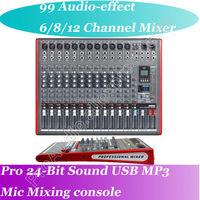 Free Shipping MICWL Wireless Mic Line Audio Bluetooth Mixer Mixing Console EQ USB Interface 48V Phantom Power 99 effect 24bit