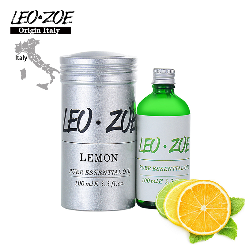 LEOZOE Lemon Essential Oil Certificate Of Origin Italy Authentication High Quality Lemon Oil 100ML Aceite Esencial Essential Oil creativity essential oil blend true botanical 100% pure and natural undiluted high quality therapeutic grade blend of rosemary clary sage hyssop marjoram cinnamon 5 ml