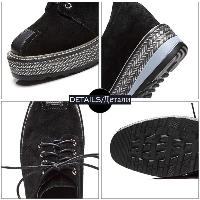 Wetkiss/весенняя обувь на плоской подошве женская обувь на танкетке из натуральной кожи со шнуровкой Модные Повседневные кроссовки вставкой ж...
