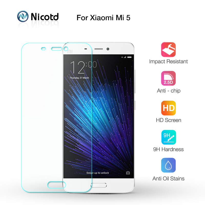Nicotd Tempered-Glass Protective-Film Screen-Protector Xiaomi Mi5 9H For M5 Toughened