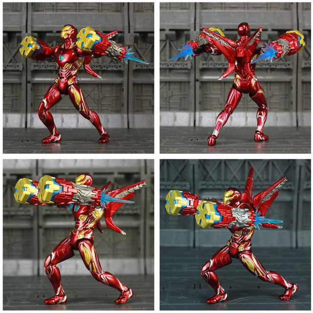 Iron Man Mark 50 Action Figure Version 3 with Big Wapons 6inch. 2