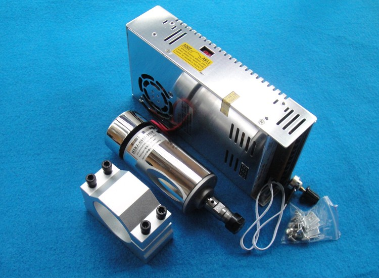 Best prices !! CNC Spindle Motor 300W + 52mm clamps bracket (send four screws) +power governor set for CNC